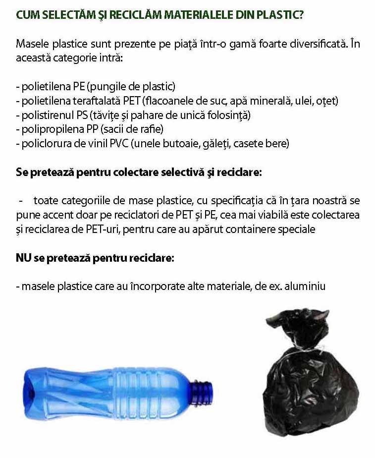 reciclarea materialelor plastice